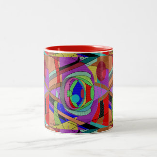 Färgrik abstrakt MUGG