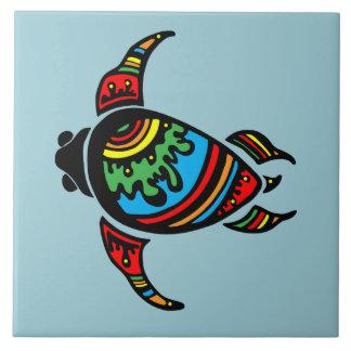 Färgrik abstrakt sköldpadda kakelplatta