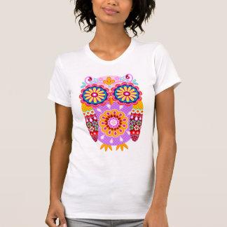 Färgrik abstrakt ugglaskjorta tshirts