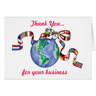 Färgrik affär för tackjulflaggor hälsningskort