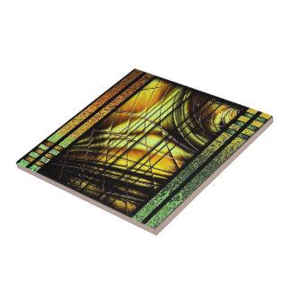 Färgrik art décostildesign kakelplatta
