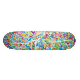 Färgrik Atlanta karta Old School Skateboard Bräda 18 Cm