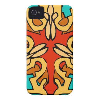 Färgrik Aztec konst iPhone 4 Cover