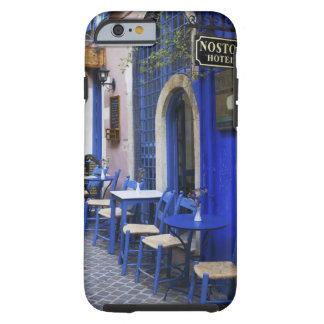 Färgrik blåttdörröppning och siding till det tough iPhone 6 fodral