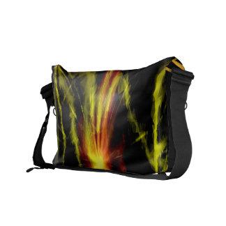 Färgrik blixt kasta i sig och avfyrar - budbärare  kurir väska