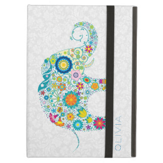 Färgrik blom- elefant på vitbakgrund iPad air skydd