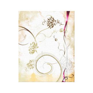 färgrik blommakanfas canvastryck