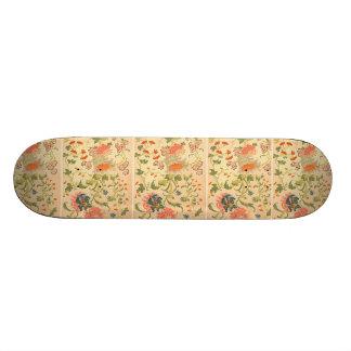 Färgrik blommaunderland old school skateboard bräda 18 cm