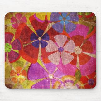 färgrik blommavektor för vintage musmattor