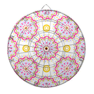 Färgrik bohemisk dekorativ design darttavla