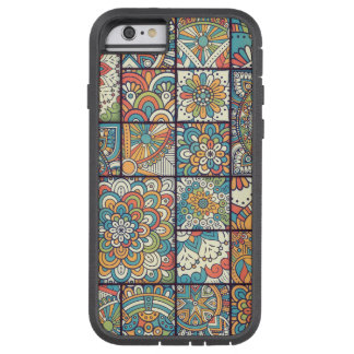 Färgrik bohemisk MandalaPatchwork Tough Xtreme iPhone 6 Case