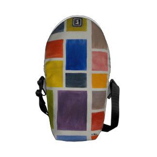 färgrik budbärare kurir väska