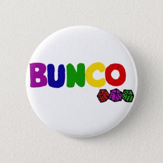 Färgrik Bunco och tärningkonst Standard Knapp Rund 5.7 Cm