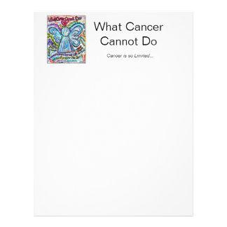Färgrik cancerängelbrevhuvud brevhuvud