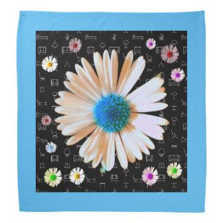 Färgrik daisyhimmel scarf