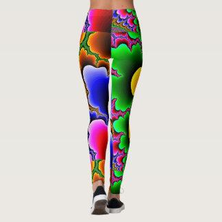 Färgrik damasker för vild leggings