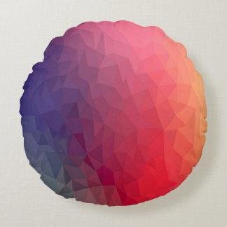 Färgrik dekorativ kudde för polygonmönsterrunda