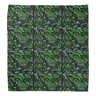 Färgrik design för grodaabstraktkonst bandana