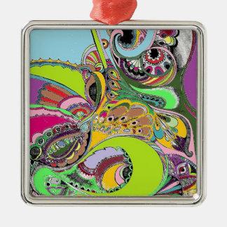 Färgrik design för Paisley färgläggningbok Julgransprydnad Metall