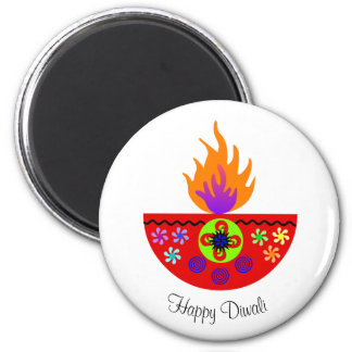 Färgrik Diwali lampa Diya Magnet