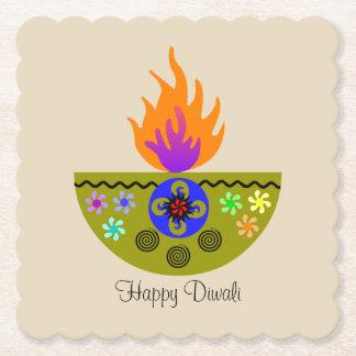 Färgrik Diwali lampa Diya Underlägg Papper