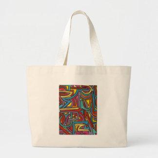 Färgrik djärv geometrisk abstrakt modern konst jumbo tygkasse