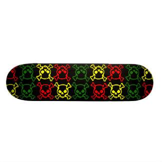 Färgrik döskallarSkateboard Mini Skateboard Bräda 18,7 Cm