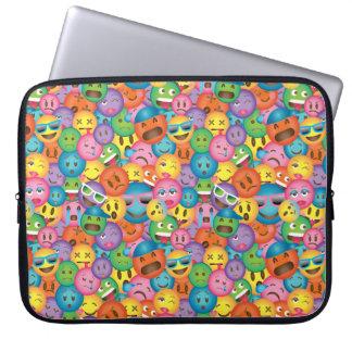 Färgrik Emoji trycksleeve Laptop Sleeve