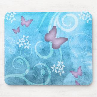 Färgrik fjärilsvattenfärgmålning musmatta