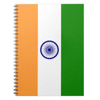 Färgrik flagga av Indien Anteckningsbok