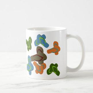 Färgrik flinflip flopsvektorkonst kaffemugg
