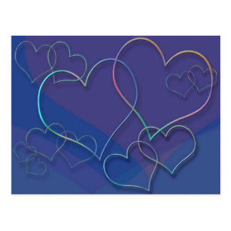Färgrik formgivare för valentinälsklingkärlek vykort