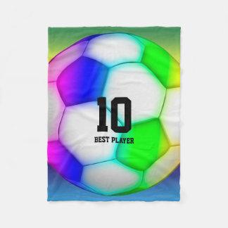 Färgrik fotboll för fotboll | fleecefilt