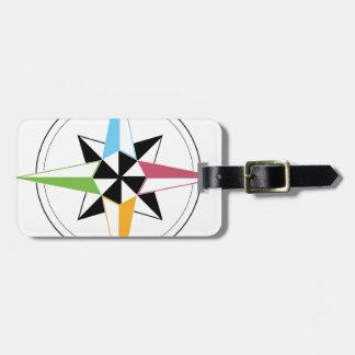 Färgrik fraktkompass bagagebricka