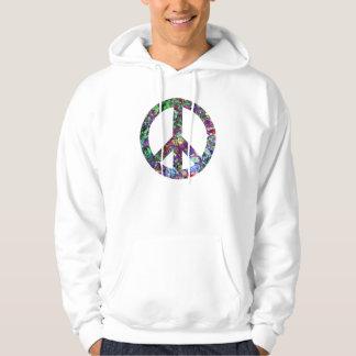 Färgrik fredstecken hoodie