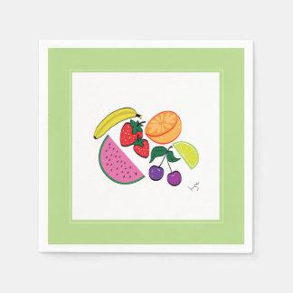 Färgrik fruktsommar coola, roligt pappersservetter
