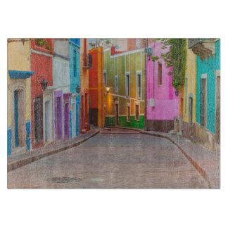 Färgrik gataplats
