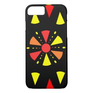 Färgrik geometri i rött och gult