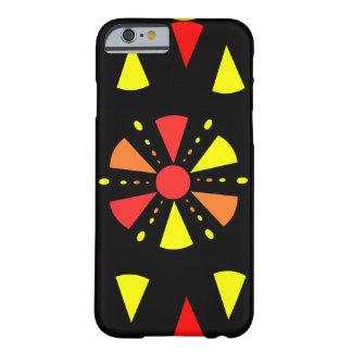 Färgrik geometri i rött och gult barely there iPhone 6 skal