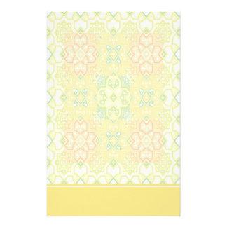 Färgrik geometrisk brevpapper med brevhuvudet