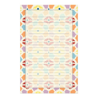 Färgrik geometrisk diamantikat brevpapper