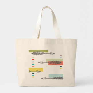 Färgrik geometrisk modern konst för stam- pil jumbo tygkasse