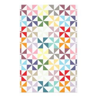 Färgrik geometrisk Pinwheel Brevpapper