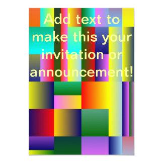 Färgrik geometrisk symmetri 12,7 x 17,8 cm inbjudningskort