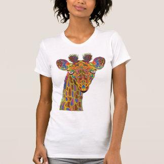 Färgrik giraff tee shirt