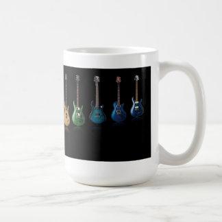 Färgrik gitarrmugg kaffe kopp