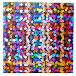 Färgrik glitterkonst stor kakelplatta