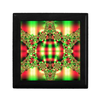 Färgrik grönt och röd Tartan Smyckeskrin