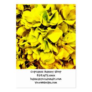Färgrik gul blommigt för vanlig set av breda visitkort