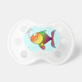 Färgrik gullig rolig fisk - napp